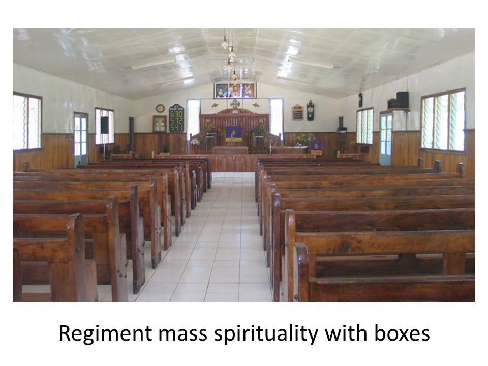Regiment mass spirituality with boxes