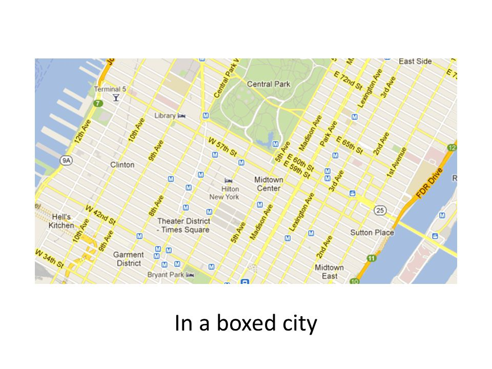 In a boxed city