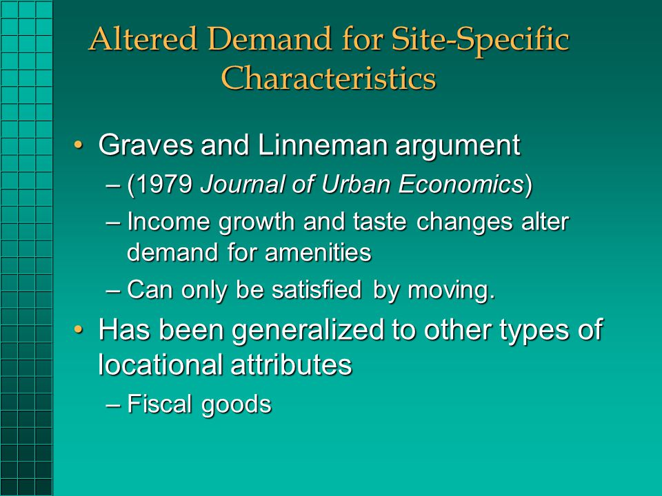 Urban and Regional Economics Prof  Clark ECON 246 Week ppt