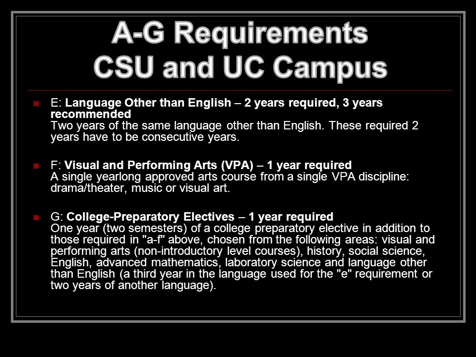 C: Mathematics – 3 years required, 4 years recommended Three years of college-preparatory mathematics Including algebra, geometry, and algebra 2.