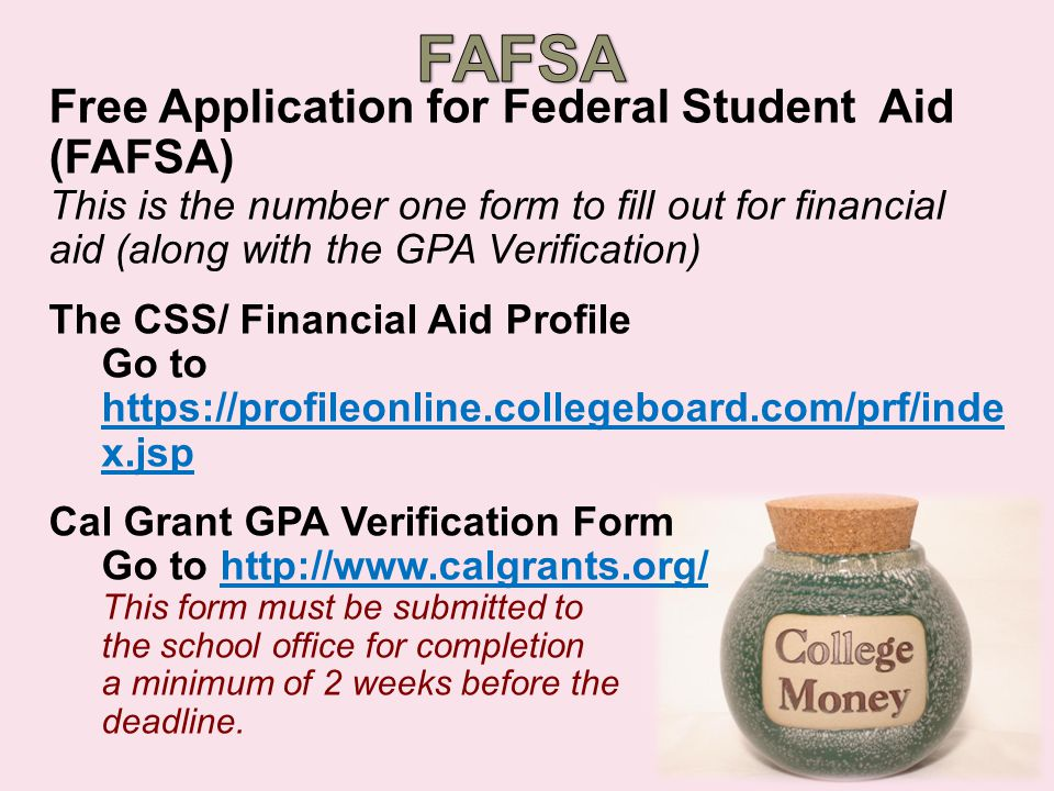 Applying for Financial Aid  Get organized.