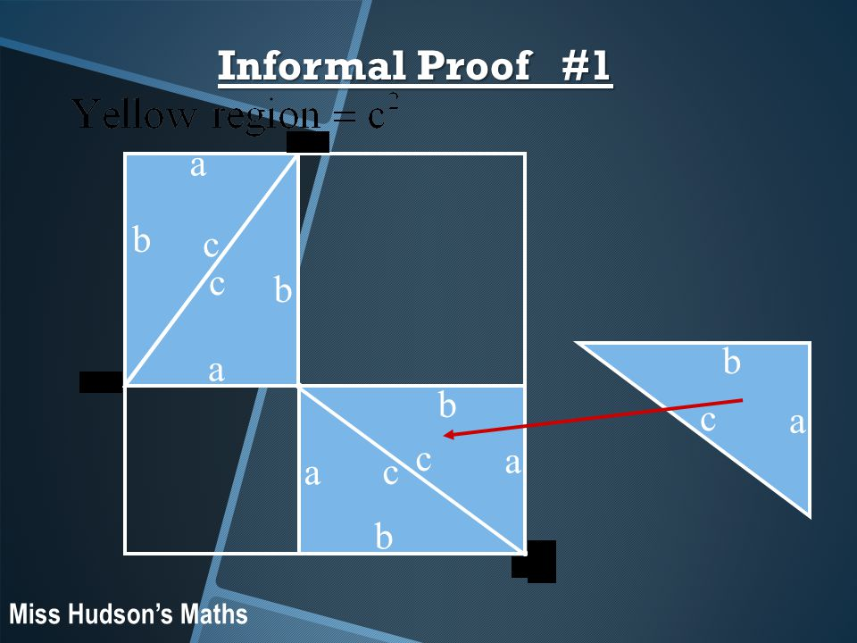 b a c Informal Proof #1 a b c a b c a b c b a c Miss Hudson's Maths