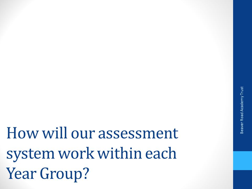 How will our assessment system work within each Year Group Beaver Road Academy Trust
