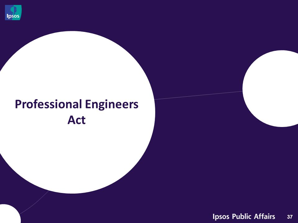 Professional Engineers Act 37