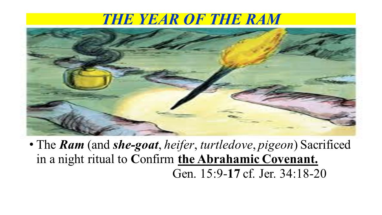 THE YEAR OF THE RAM A. T HE R AM OF C ONFIRMATION.G EN.