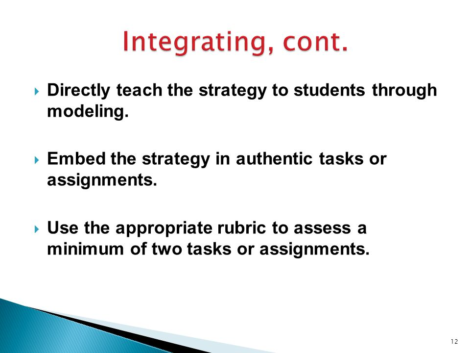  Directly teach the strategy to students through modeling.