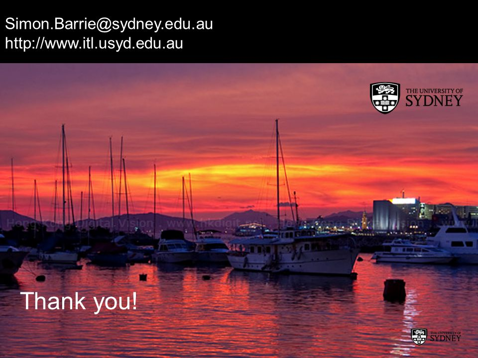 Thank you! Simon.Barrie@sydney.edu.au http://www.itl.usyd.edu.au