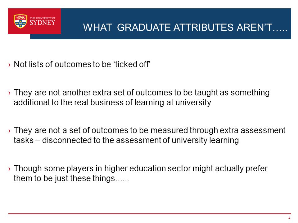WHAT GRADUATE ATTRIBUTES AREN'T…..