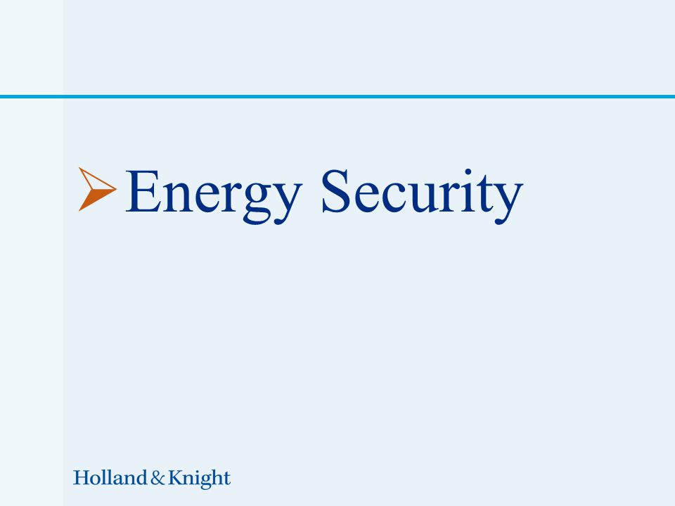  Energy Security