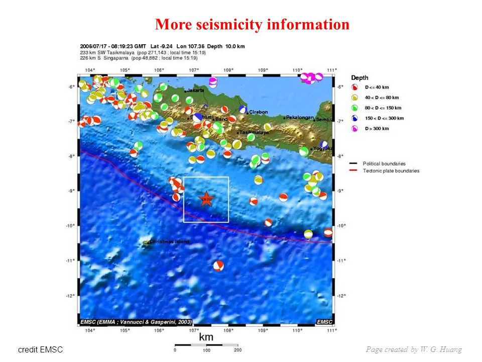 credit EMSC More seismicity information