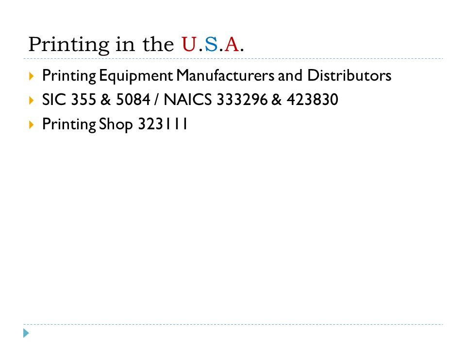 Printing in the U.S.A.