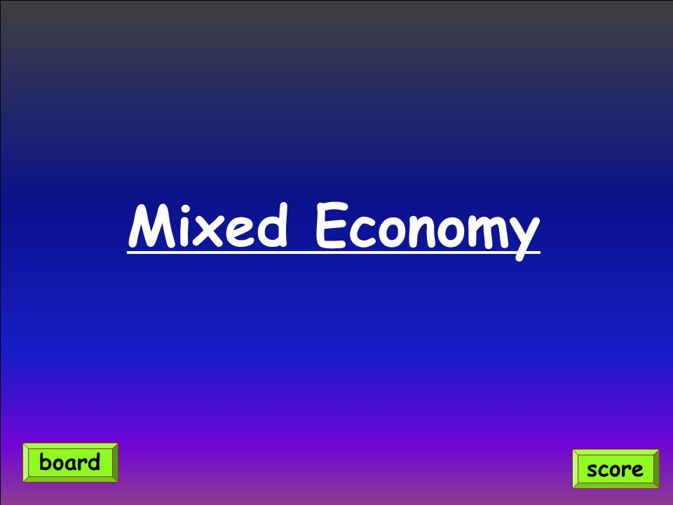 Mixed Economy score board