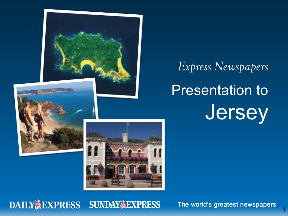 Express Newspapers Presentation to Jersey 1