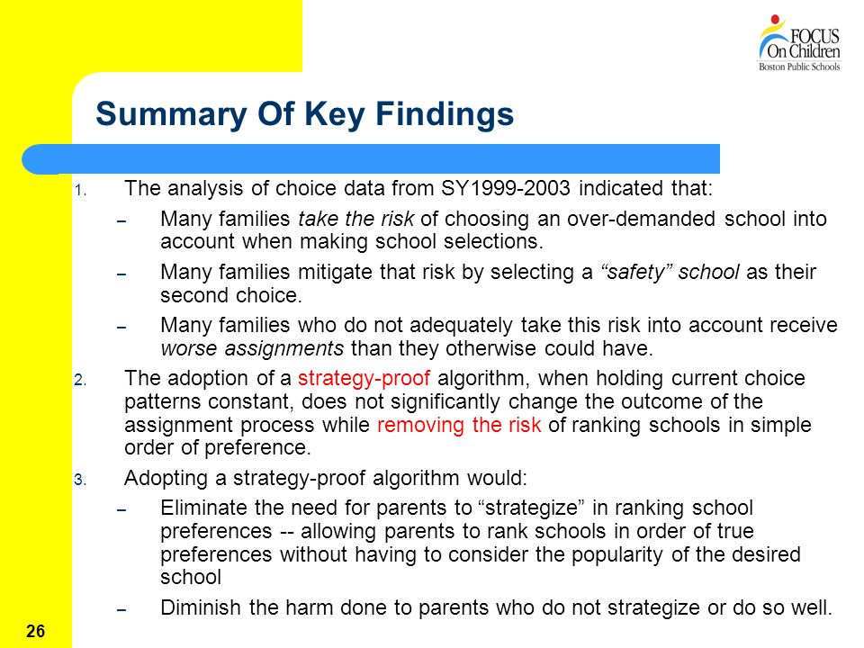 26 Summary Of Key Findings 1.
