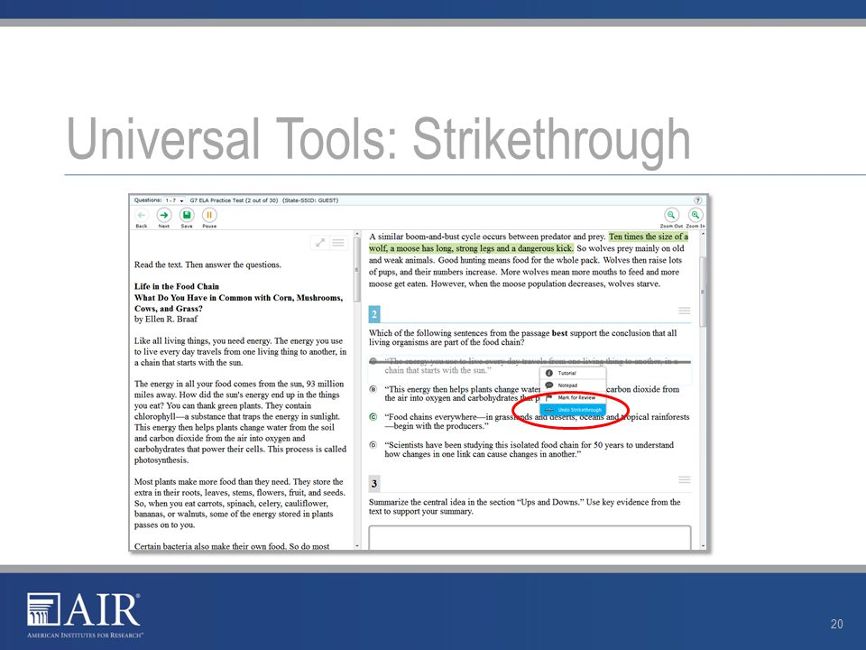 Universal Tools: Strikethrough 20