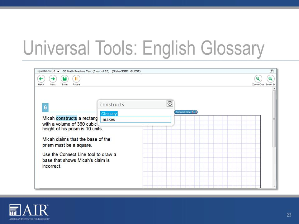 Universal Tools: English Glossary 23