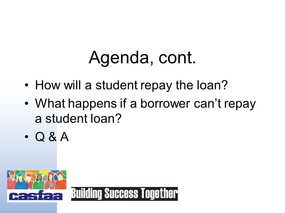 Agenda Introduction –Overview of student loans Types of loans Loan availability Applying & determining eligibility How much can students/families afford to borrow