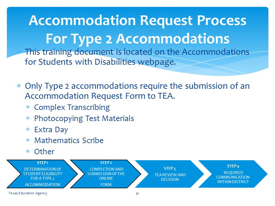  This training document is located on the Accommodations for Students with Disabilities webpage.