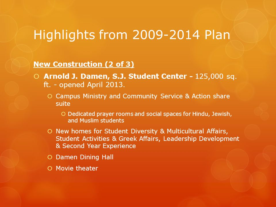 Highlights from 2009-2014 Plan New Construction (2 of 3)  Arnold J.
