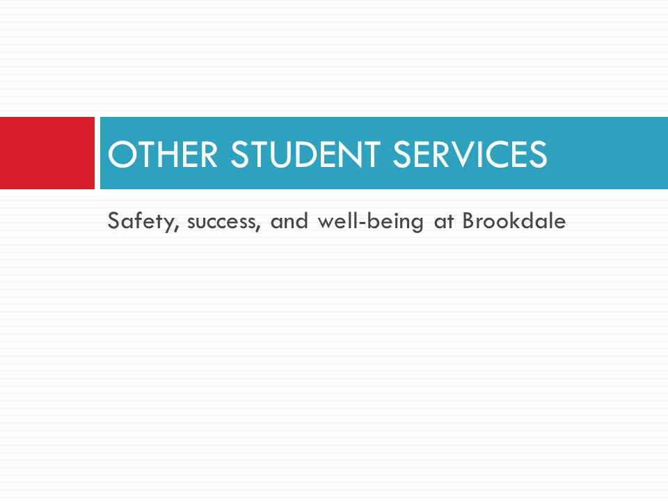 Safety, success, and well-being at Brookdale OTHER STUDENT SERVICES
