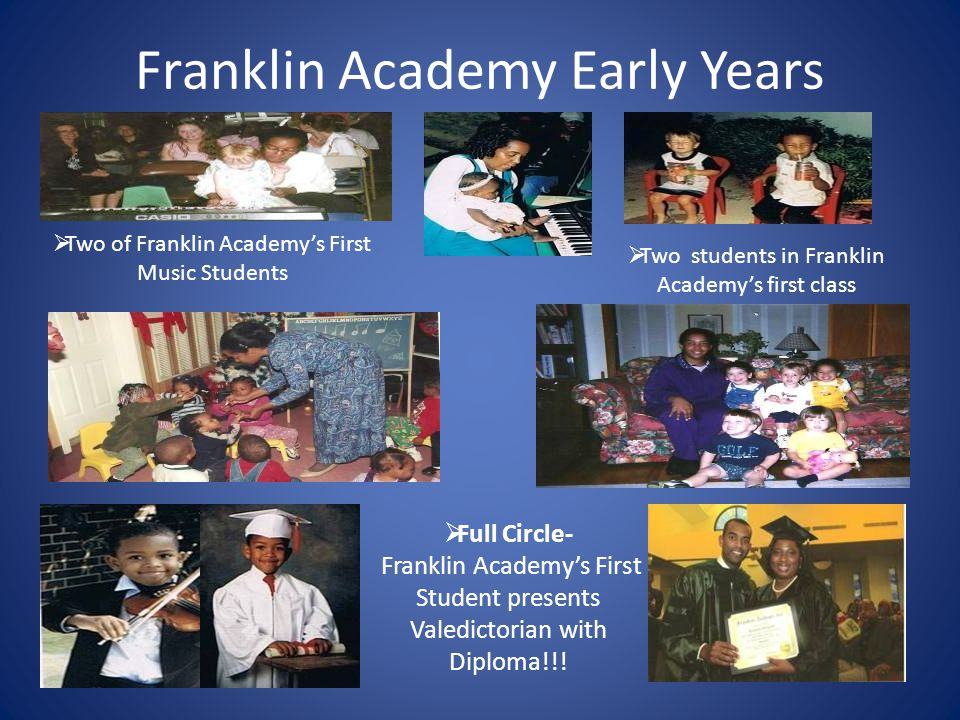 Franklin Academy History It all started with a need, a prayer and a water cooler!!!