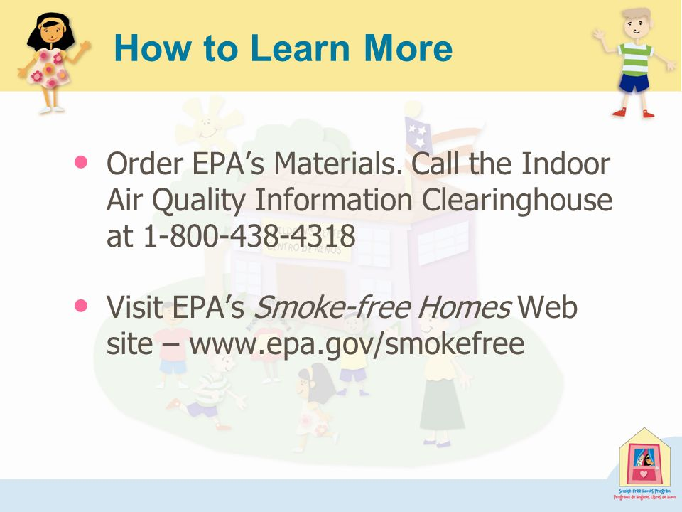 How to Learn More Order EPA's Materials.