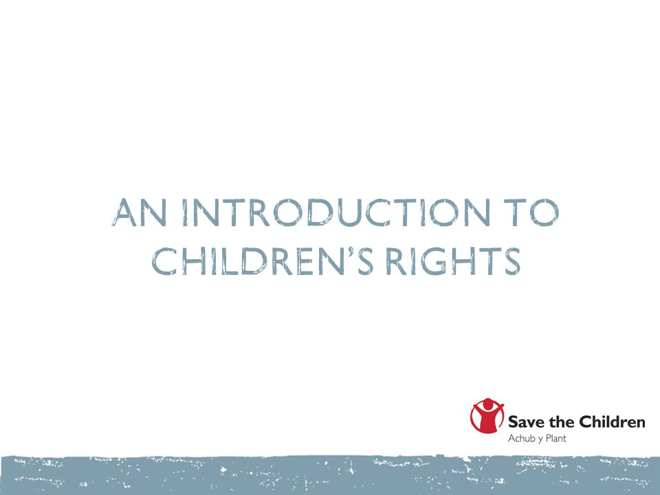 An introduction to children's rights