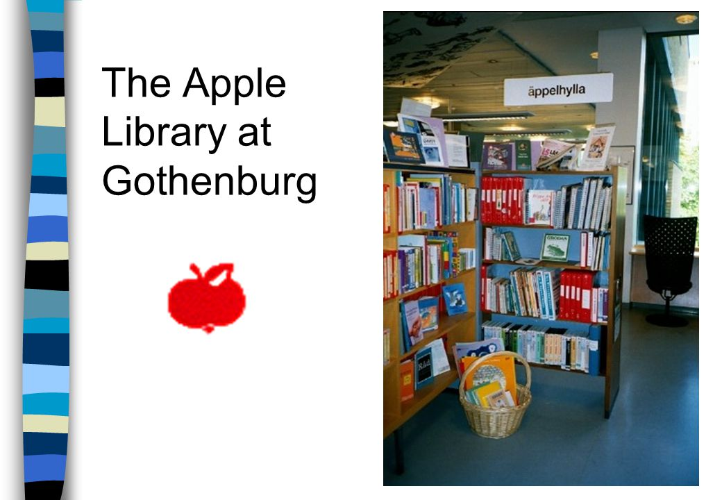 The Apple Library n special department at the library n offers a wide range of media for disabled children n in collaboration with teachers at special schools