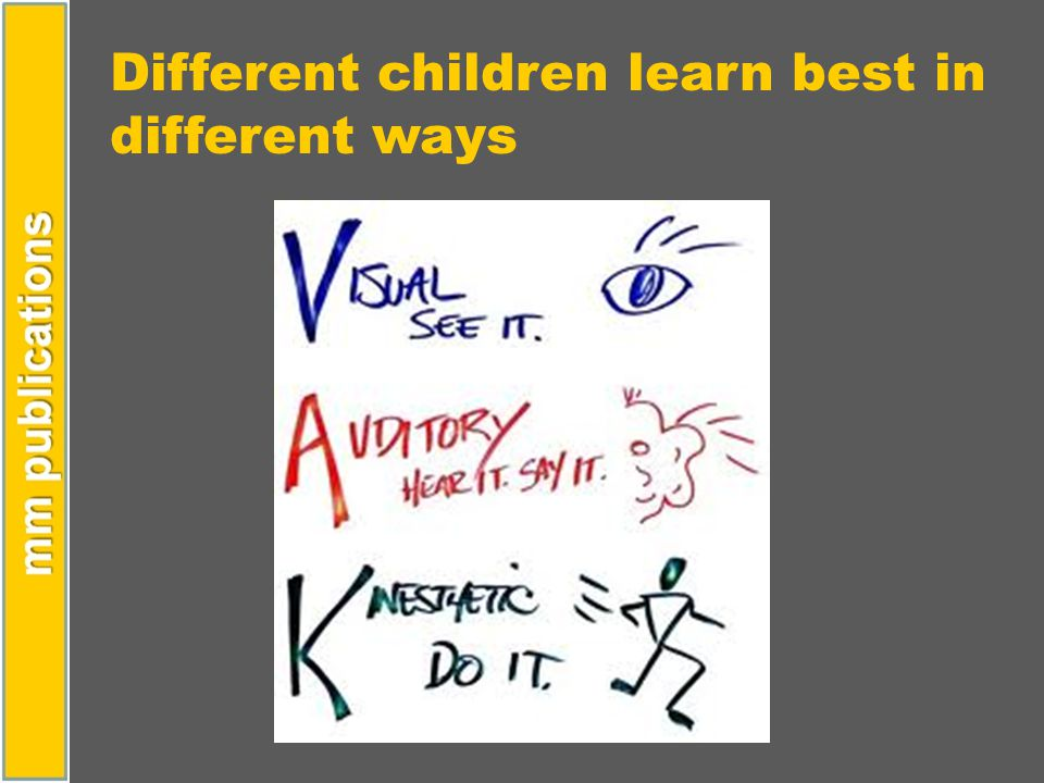Different children learn best in different ways