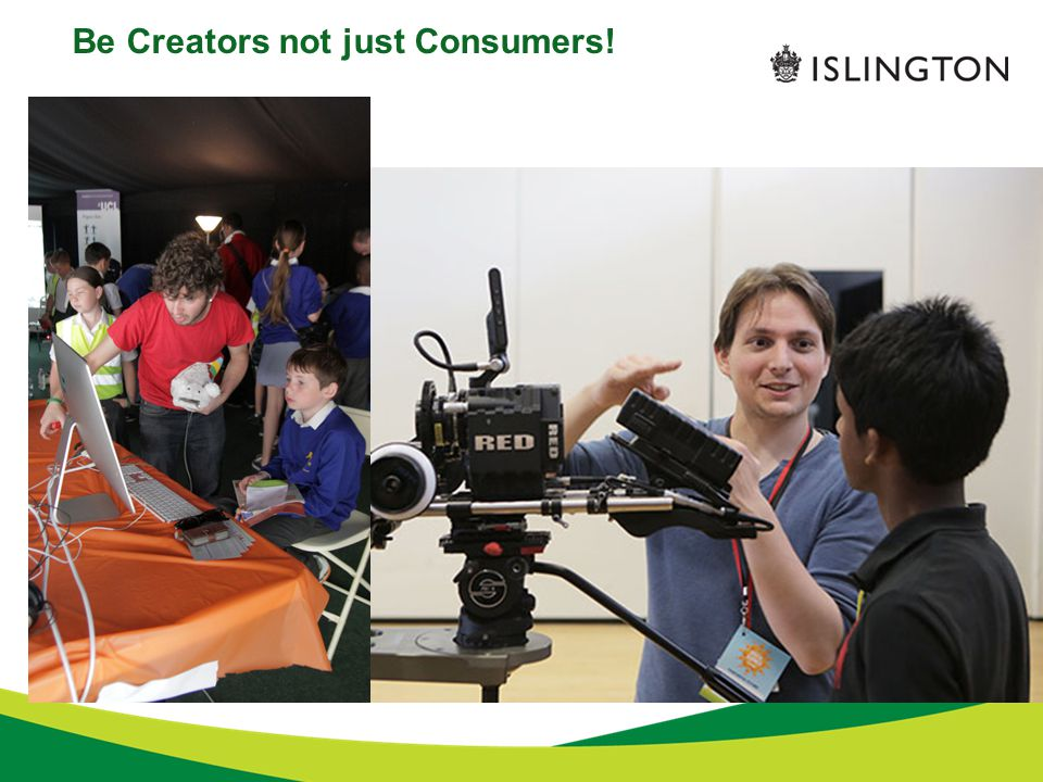 Be Creators not just Consumers!
