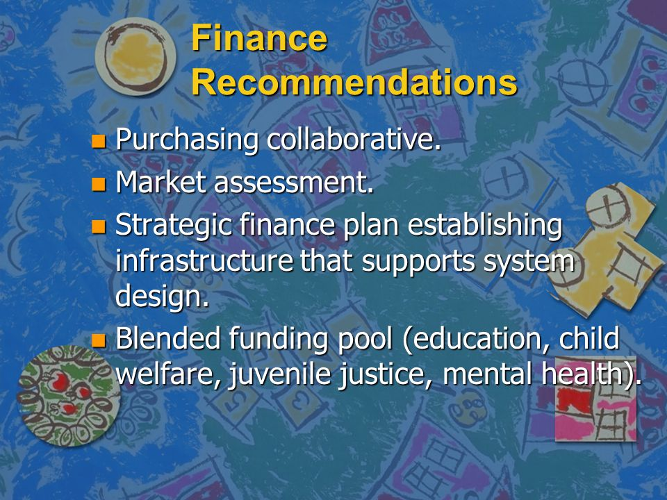 Finance Recommendations n Purchasing collaborative.