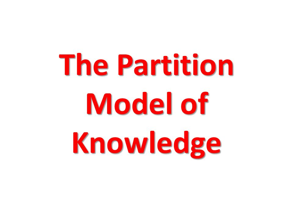 The Partition Model of Knowledge