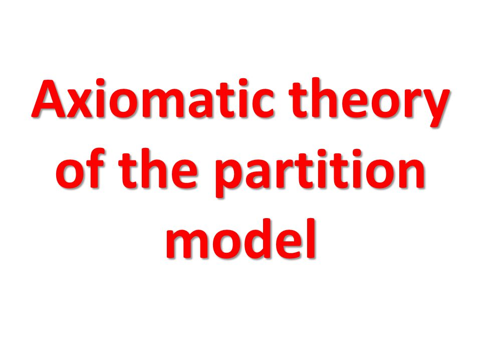 Axiomatic theory of the partition model