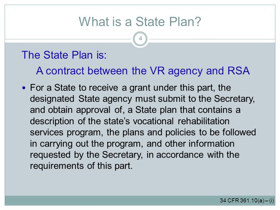 What is a State Plan.
