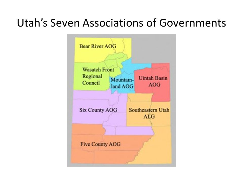 Utah's Seven Associations of Governments
