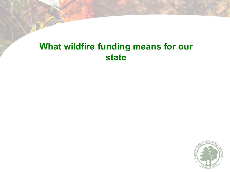 What wildfire funding means for our state