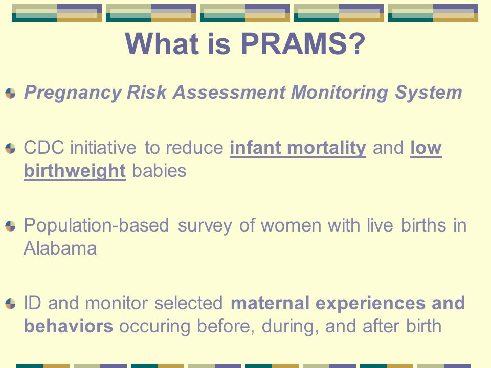 What is PRAMS.
