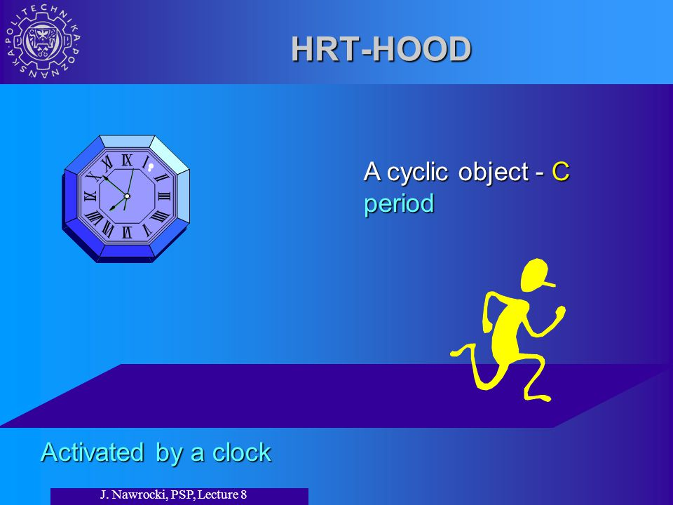 J. Nawrocki, PSP, Lecture 8 HRT-HOOD A cyclic object - C period Activated by a clock