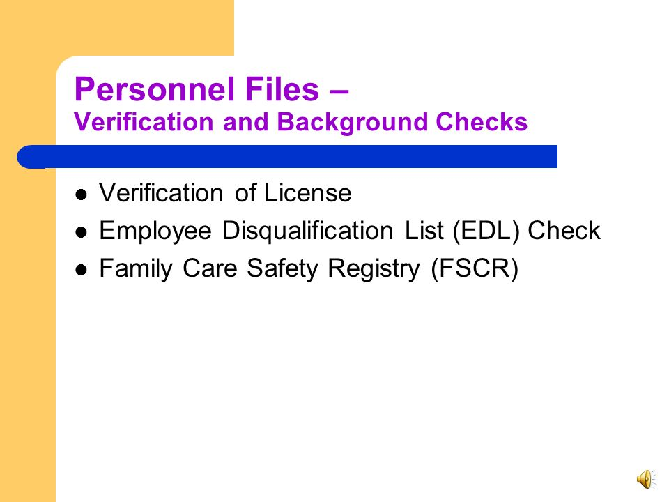 Personnel Files - Policies Clients Rights Confidentiality Code of Ethics