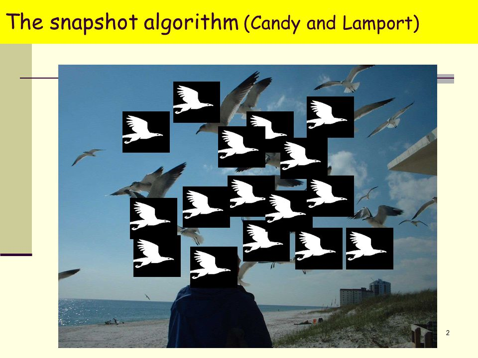 2 The snapshot algorithm (Candy and Lamport)