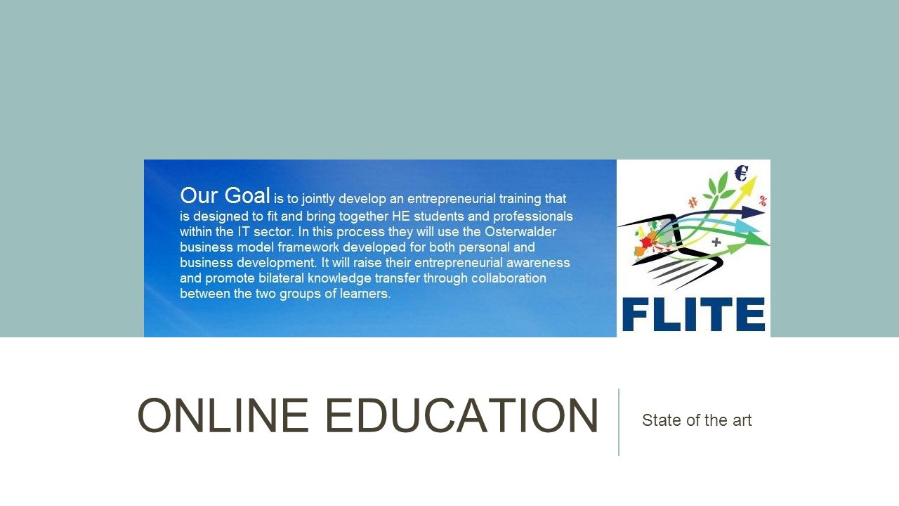 ONLINE EDUCATION State of the art