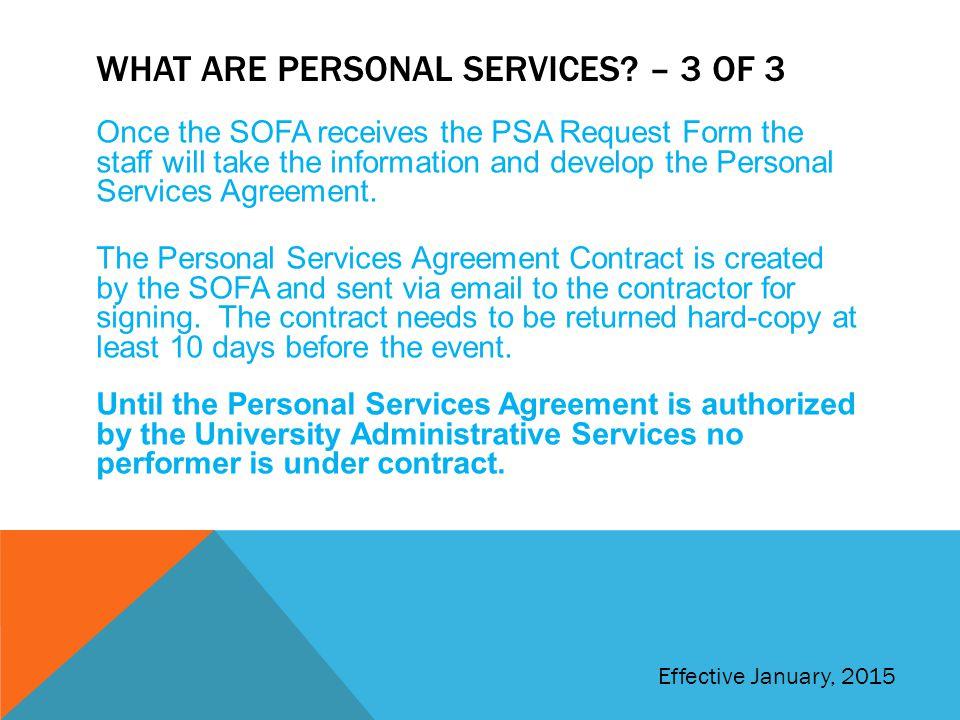 Student Organization Training Finance Module 4 Personal Services