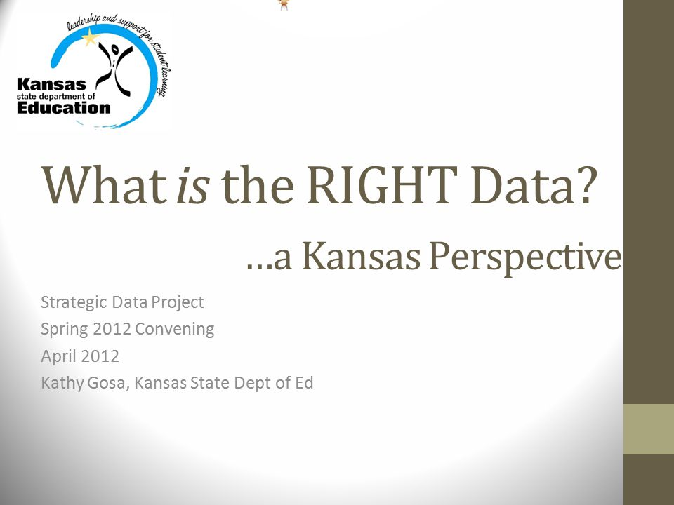 What is the RIGHT Data.