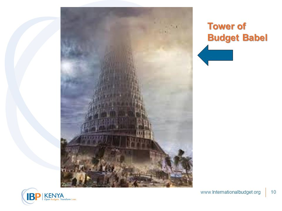 www.Internationalbudget.org10 Tower of Budget Babel