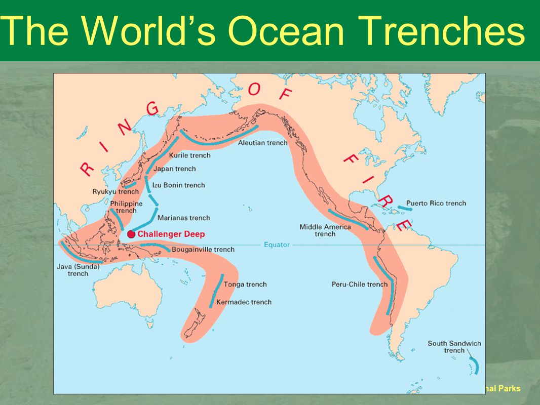 GEOSC 10 - Geology of the National Parks The World's Ocean Trenches
