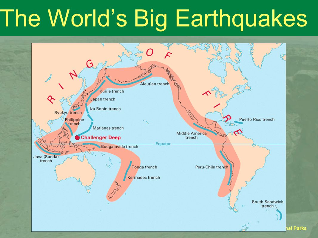 GEOSC 10 - Geology of the National Parks The World's Big Earthquakes