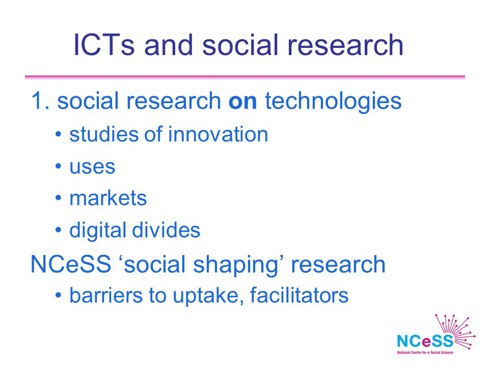 ICTs and social research 1.