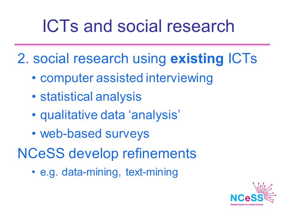 ICTs and social research 2.