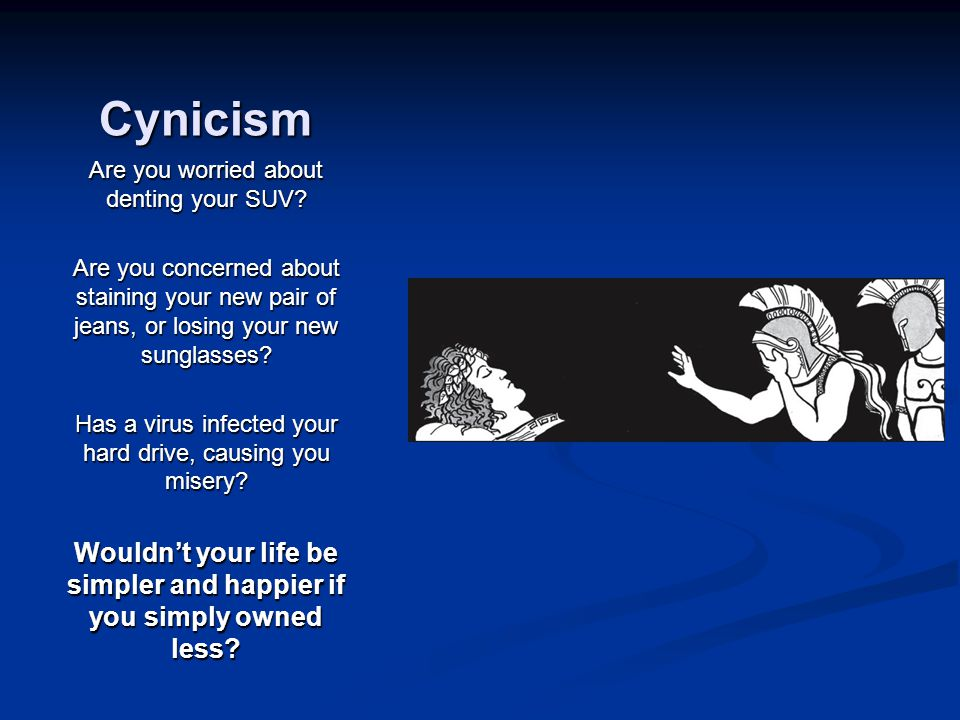 Cynicism Are you worried about denting your SUV.