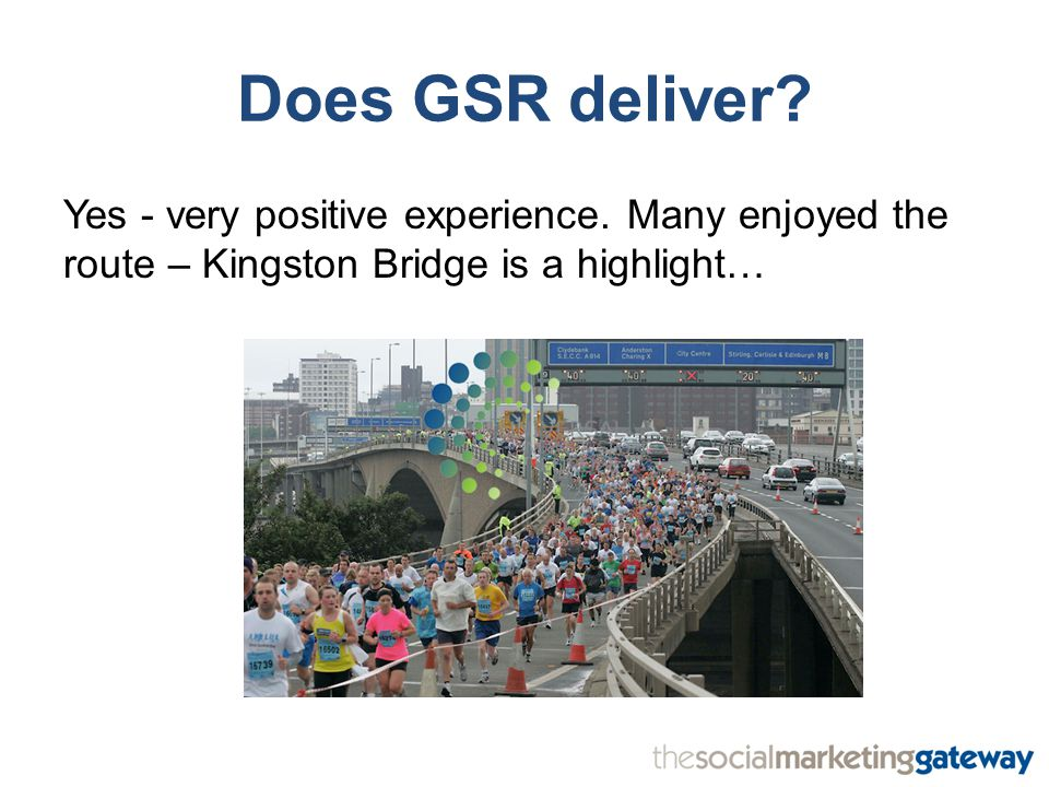 Does GSR deliver. Yes - very positive experience.